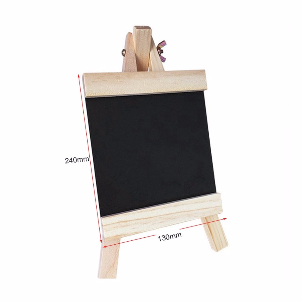 Blackboard 24*13cm Desktop Records Board With Adjustable Wooden Stand Durable Chalk Board Black Board Products For Schools Home image