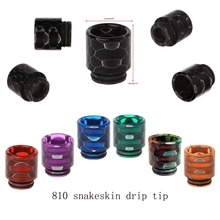 DIY Electronic Cigarette Nozzle Vape Mouthpiece 7 Colors Snakeskin Universal Epoxy Resin Drip Tip For 810 Caliber Atomizer
