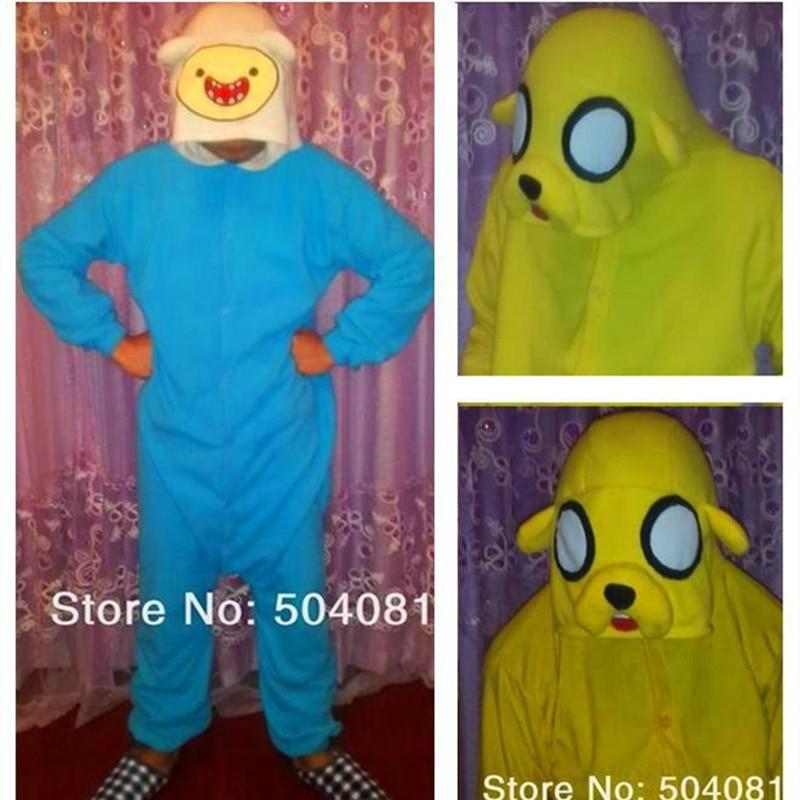 """Nemokamas pristatymas iš gamyklos tiesioginio pardavimo. Žiemos animacinių filmų storos vilnos pižamos """"Mielas nuotykis"""" eina su """"Finn Jack"""" pižama"""