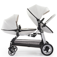 Free ship Twin baby stroller luxury high landscape eggshell double pram folding light kid carriage semaco