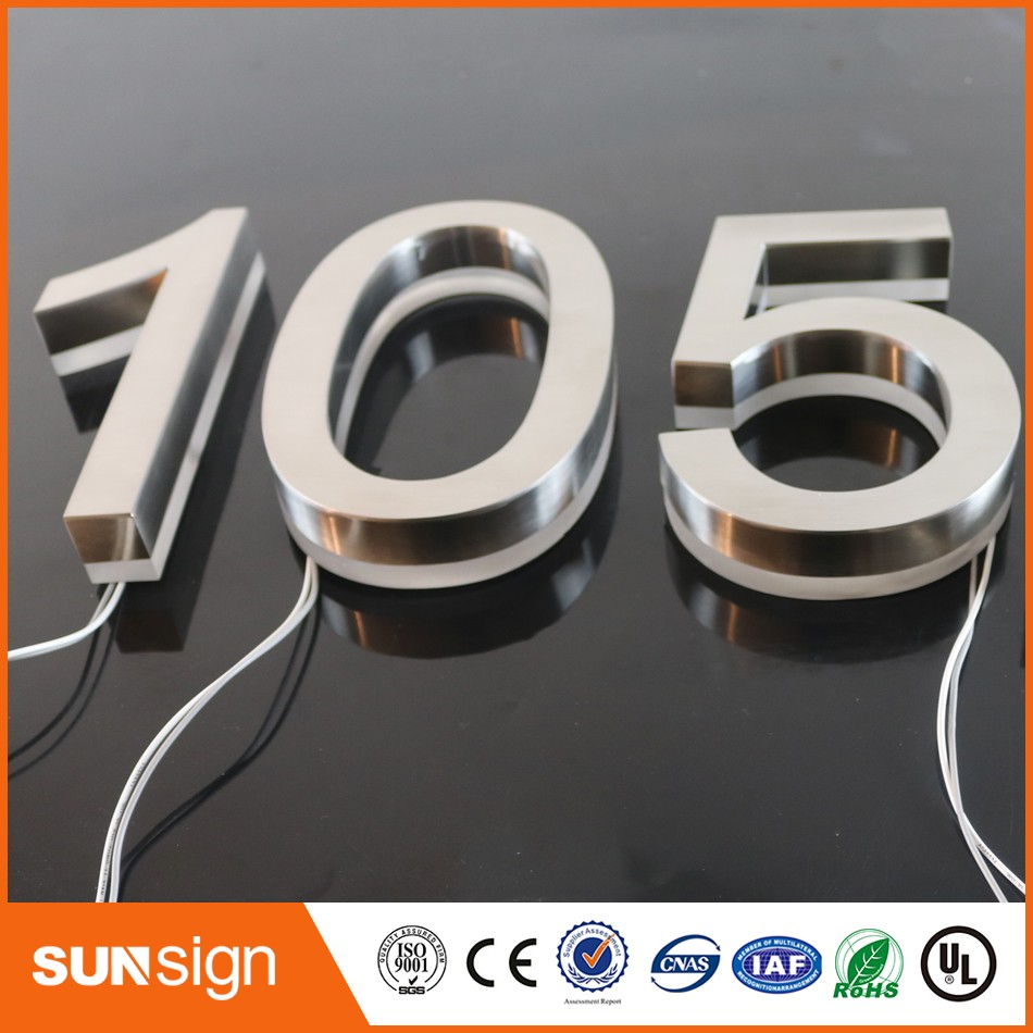 custom stainless steel led lighted backlit house numbers for hotelsin electronic signs from electronic components u0026 supplies on alibaba