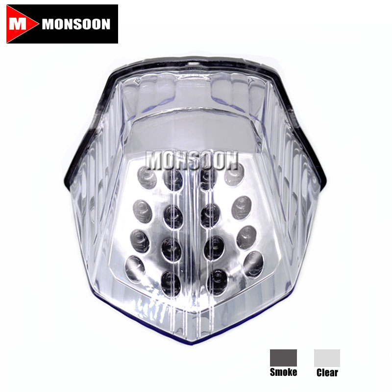 For YAMAHA XJ6 2009-2014 FZ6R 2009-2014 DIVERSION 600 2009-2014 Motorcycle Accessories LED Tail Light Clear