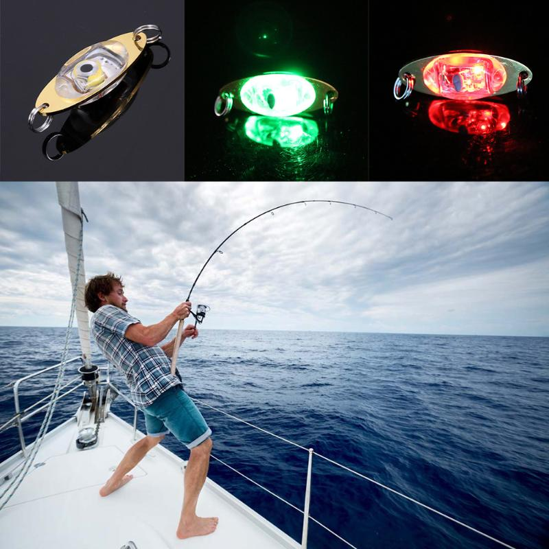 Flash Lamp Deep Drop Underwater Attraction indicator Fishing Electronic LED Light Attract Fish Flash Light Bait Lure Lamp