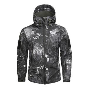 Image 3 - Men autumn winter jacket coat soft shell shark skin clothes, waterproof military clothing camouflage jacket