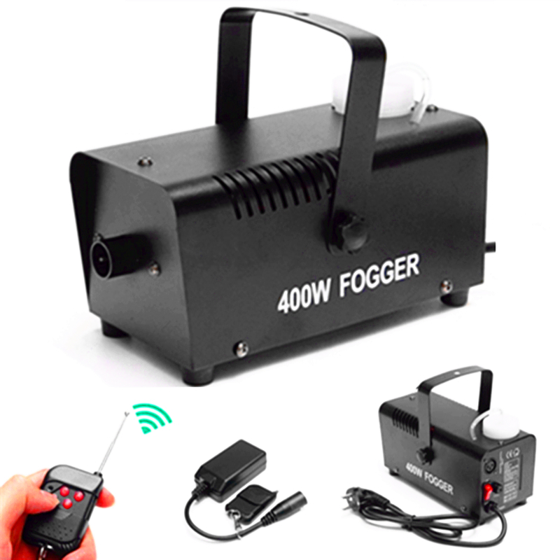 Mini 400W Smoke Machine /Pump DJ Disco Fog Machine For Home Party Christmas/ Wireless Remote Control 400W Stage Fogger Machine
