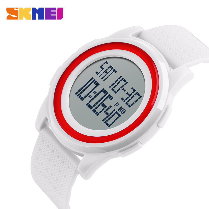<font><b>SKMEI</b></font> LED Digital Watches Women Lovers Sport Watch Ultra-thin Design Comfortable Soft PU Band 50M Water Resistant <font><b>1206</b></font> image