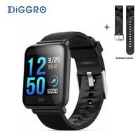 Diggro Q9 Smart Watch Blood Pressure Heart Rate Monitor IP67 Waterproof Sport Fitness Trakcer Watch Men Women Smartwatch