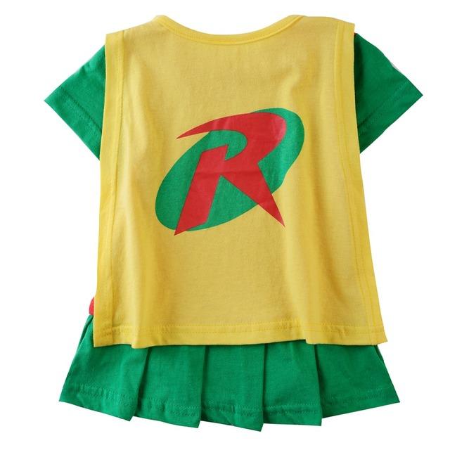 Bébé Fille Robin Barboteuses À Manches Courtes Manteau D'été Fancy Dress Up Costume 0-24 Mois