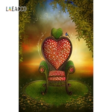 Laeacco Dreamy Jungle Rest Area Mark Chair Portrait Photography Background Customized Photographic Backdrops For Photo Studio