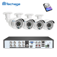 8CH 1080P HDMI DVR Kit CCTV Security System 4PCS 2.0MP Outdoor IR Night Vision AHD Infrared Camera P2P Video Surveillance Set