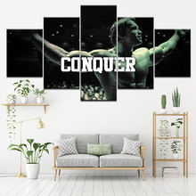 Canvas Painting Arnold Schwarzenegger Conquer 5 Pieces Wall Art Modular Wallpapers Poster Print Home Decor
