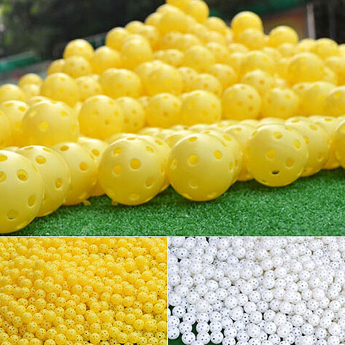 Image 2 - 6 Pcs Indoor Elastic Golf Hollow Ball Rubber Hole Golfs Beginner Practice Training Ball-in Golf Balls from Sports & Entertainment
