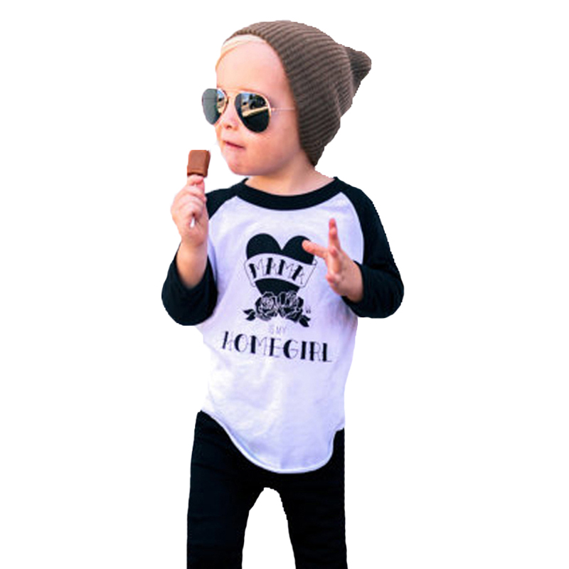 Spring Boys Clothing Set 2017 Fashion Flower Letter T shirt+Pant 2pcs Kids Girl Clothing Sets Brand Toddler Boy Clothes Outfits