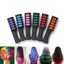 Hair Pro Temporary Hair Chalk Dye Powder With Comb Salon Hair Mascara Crayons DIY 6 Colors Hair dyeing comb   #20.15 цена