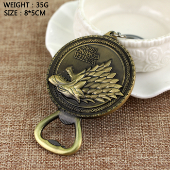 Game Of Thrones Bottle Opener Beer Keychain High Quality House Stark Winter Is Coming Wolf Logo