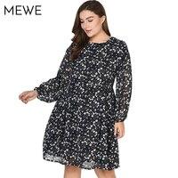Women S Summer Dresses In Large Size 5XL 6XL 7XL Retro Floral Chiffon Long Sleeve Dress