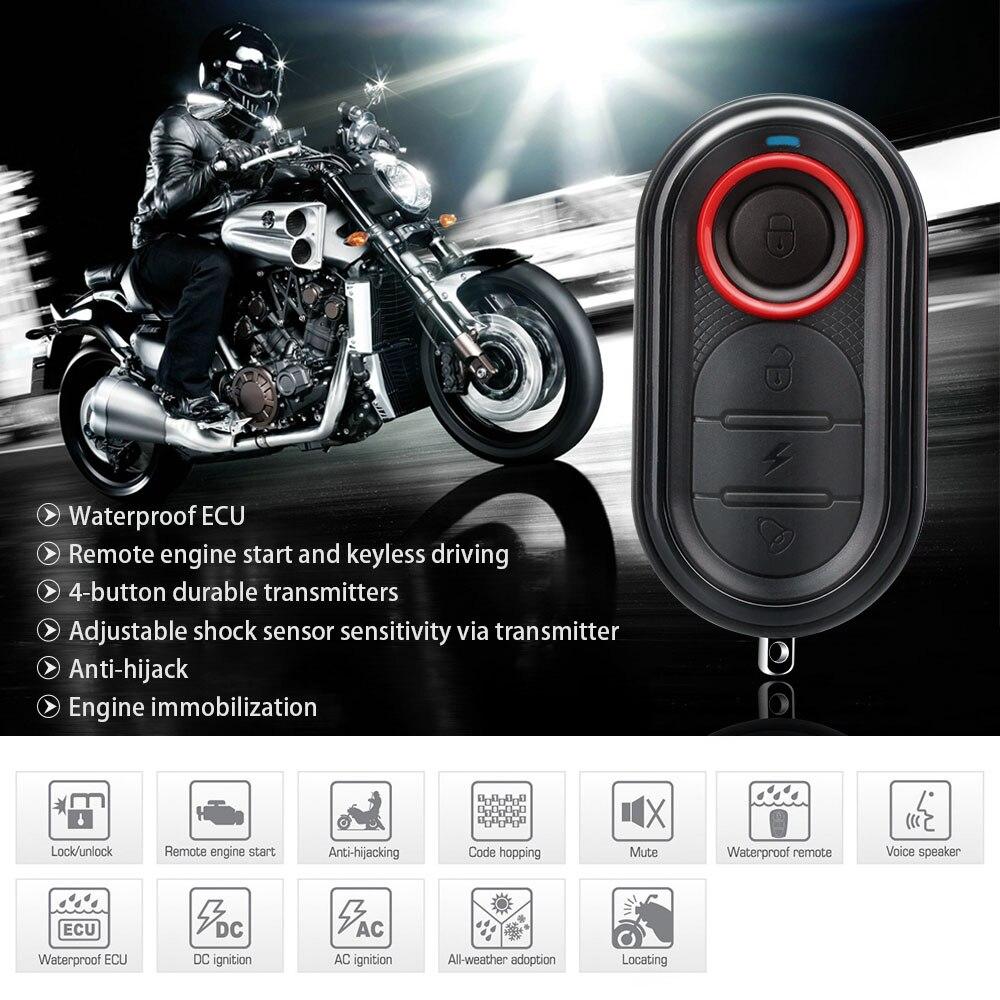 Steelmate 986E 1 Way Moto Système D'alarme À Distance Démarrage Du Moteur Moto D'immobilisation Du Moteur avec Émetteur