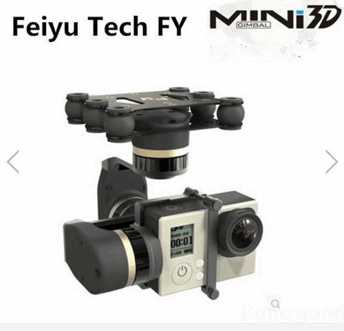 New Version Feiyu Tech FY MiNi3D 3 Axle Gimbal For GoPro4 GoPro3+ GoPro3 Sport Camera feiyu tech fy mini3d pro 3 axis 6 damper ball brushless gimbal for gopro4 gopro3 gopro3 sport camera