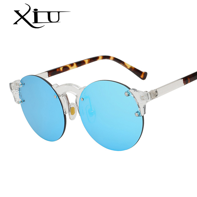 8d0d01ef67 XIU Oval Shade Rimless Frame Sunglasses Men Women Brand Designer Sunglass  Fashion Vintage Glasses Summer Style Eyewear UV400