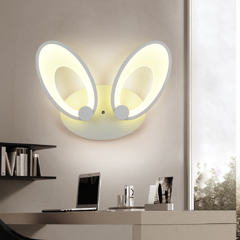 Modern simplified led living room bedroom bedside wall lamp personality corridor energy saving hotel engineering lamps round crystal lamp bedroom bedside lamp wall lamp simple modern personality aisle led living room wall