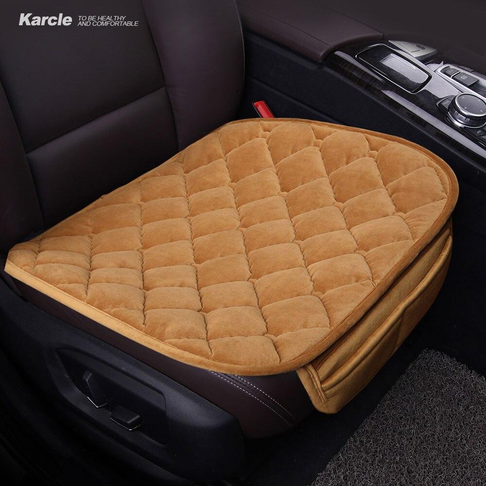Karcle 1 STÜCKE Plüsch Auto Sitzbezüge Schutzfolie Fahrer Stuhl Pad Auto-styling Atmungsaktive Sommer Sitzkissen Auto Zubehör