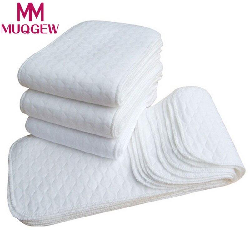 New 5pcs Infant White Baby Nappies Soft Reusable Baby Cloth Diaper Nappy Newborn  Baby Cloth Diaper Washable Nappy