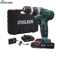 42n/m Electric Power Tools Double Speed Cordless Screwdriver 21V Electric Screwdriver Lithium Battery Drill Wireless