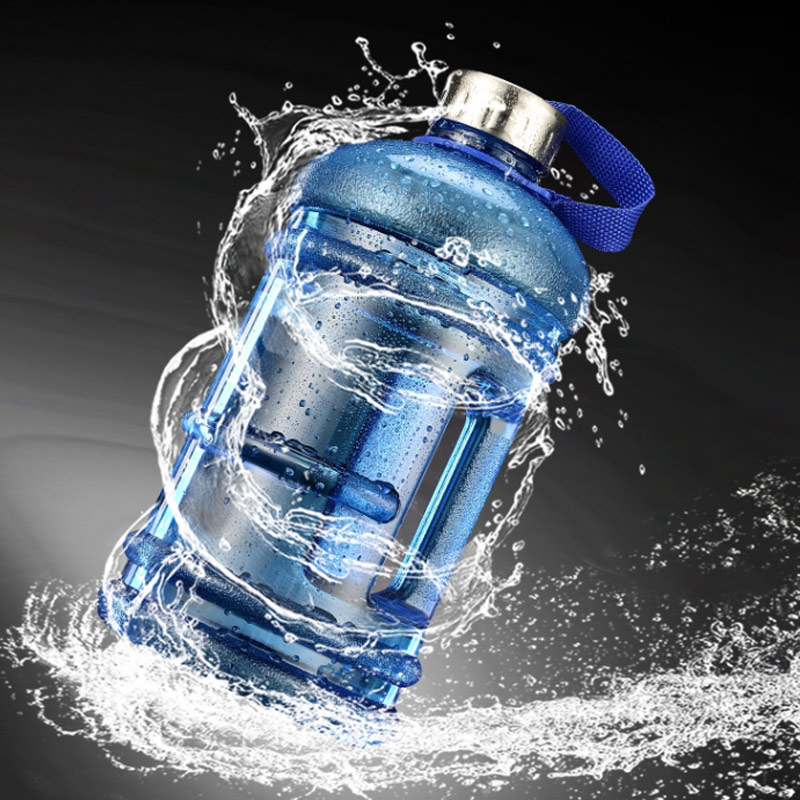 Hot Outdoor Water Bottle Portable Plastic Large Capacity Water Bottle Kettle with Handle for Hiking DO2 in Sports Bottles from Sports Entertainment