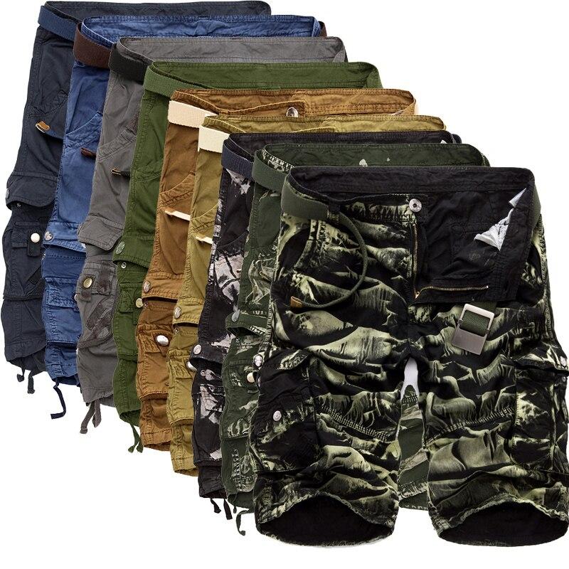86 Mens Military Shorts Summer Camouflage Cargo Shorts Men Cotton Loose Casual Short Pants No Belt