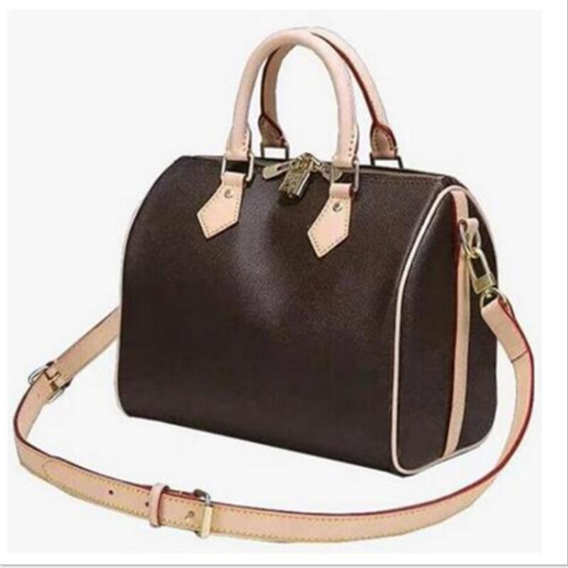Bag Brown Speedy-Bag Flowers Shoulder-Strap Women Handbag Design Hot-Selling Fashion
