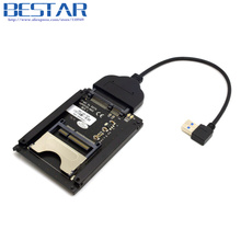 Left Anged USB 3.0 to CFast Card adapter to SATA 22Pin 2.5 inch Hard Disk Case SSD HDD PC Laptop