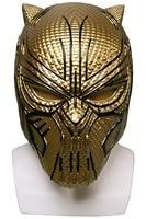 Black Panther Mask Leopard Gold Black Panther Superhero Erik Mask Helmet Props Halloween Party Prop