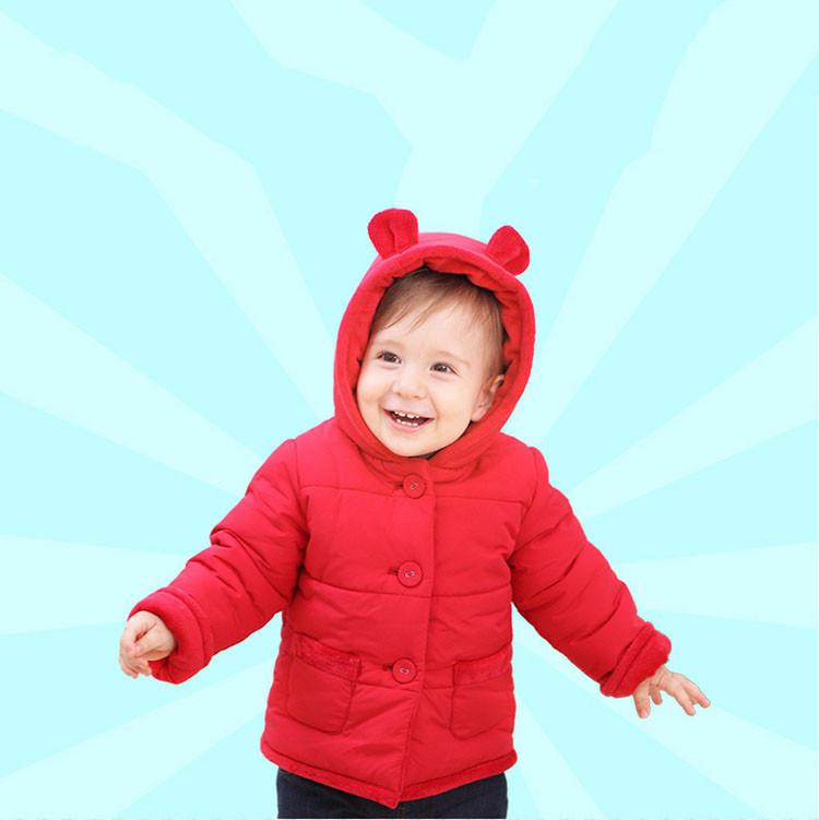 Winter Baby Snowsuit Warm Jackets & Coats Girls Designer Baby Clothes Branded Velvet Cute Bear Ear Overall Newborn Outerwear (18)