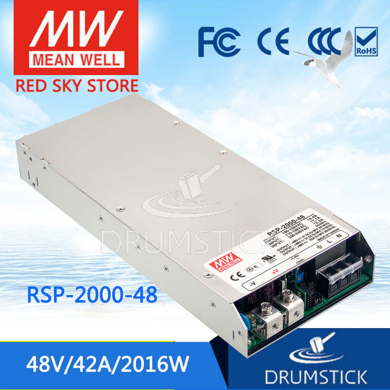 (12.12)MEAN WELL RSP-2000-48 48V 42A meanwell RSP-2000 48V 2016W Single Output Power Supply сенсорные купить до 2000 грн