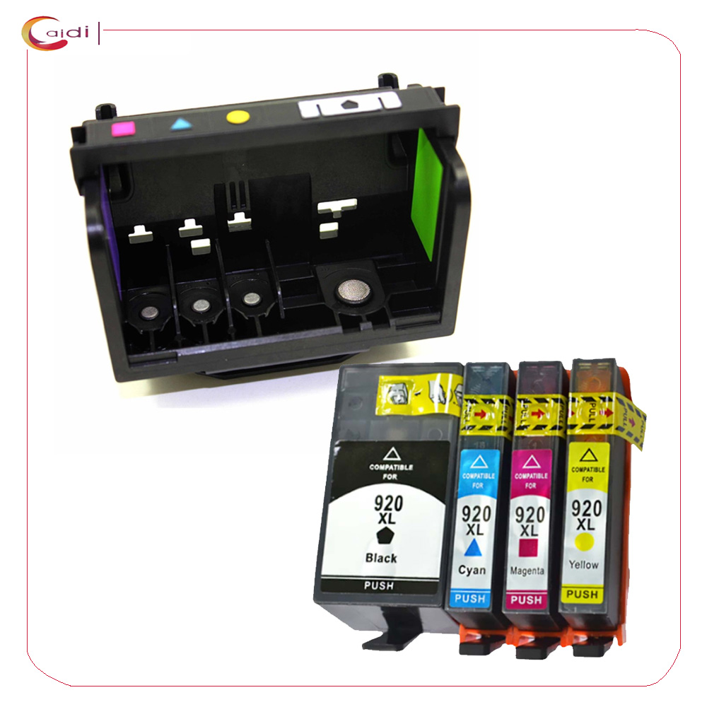 Compatible Print Head Printhead + ink cartridge for HP 920 Printhead for Officejet 6000 6500 6500A 7000 7500A Printer All in one original and new 920 920xl 922 printhead print head for hp 6000 6500 6500a 7000 7500 7500a b109a b110a b209a b210a c410a c510a