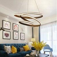 Modern led Chandelier for Kitchen Dining Room Living Room Suspension luminaire Hanging White Black Bedroom Chandelier avize