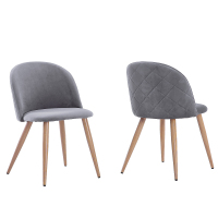 2Pcs Modern Dining Chairs Soft clad Wood Bread Chairs Velvet Dining Chair for Kitchen Living Room Leisure Side Chairs US Stock