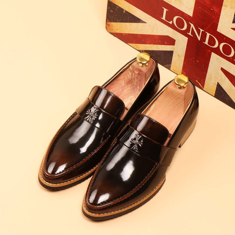 Formal Shoes Smart 2018 New Fashion Style Designer Formal Mens Dress Shoes Genuine Leather Luxury Wedding Shoes Men Flats Office Shoes Lc8166-1 Volume Large Shoes