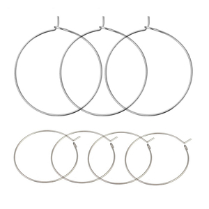 50pcs/lot 316 Stainless Steel Big Circle Wire Hoops Loop Earrings for DIY Dangle Earring Jewelry Making Accessories Hand Made