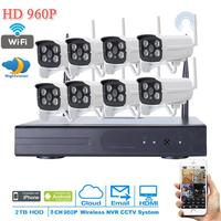 NEW 8CH Plug And Play P2P 720P WIFI HD 4 Array IR Outdoor Surveillance IP Camera