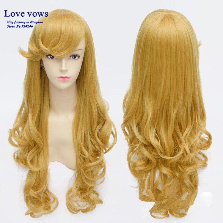 Sleeping Beauty Princess Aurora Wig Beauty Princess Anime Long Curly