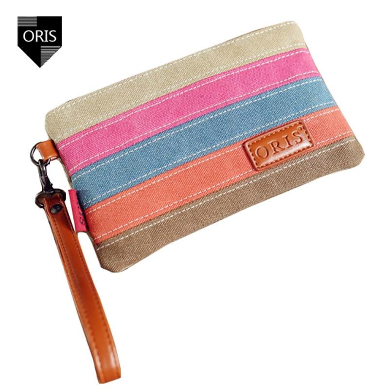 Designer ORIS Patchwork Women's Purse Phone Bag Handbag Quality Canvas Casual Clutch Bag Fashion Portable Day Clutches Handbags