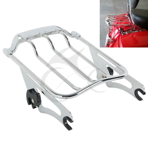 Chrome Air Wing Two Up 2up Luggage Rack For Harley Touring Street Glide road glide FLHX
