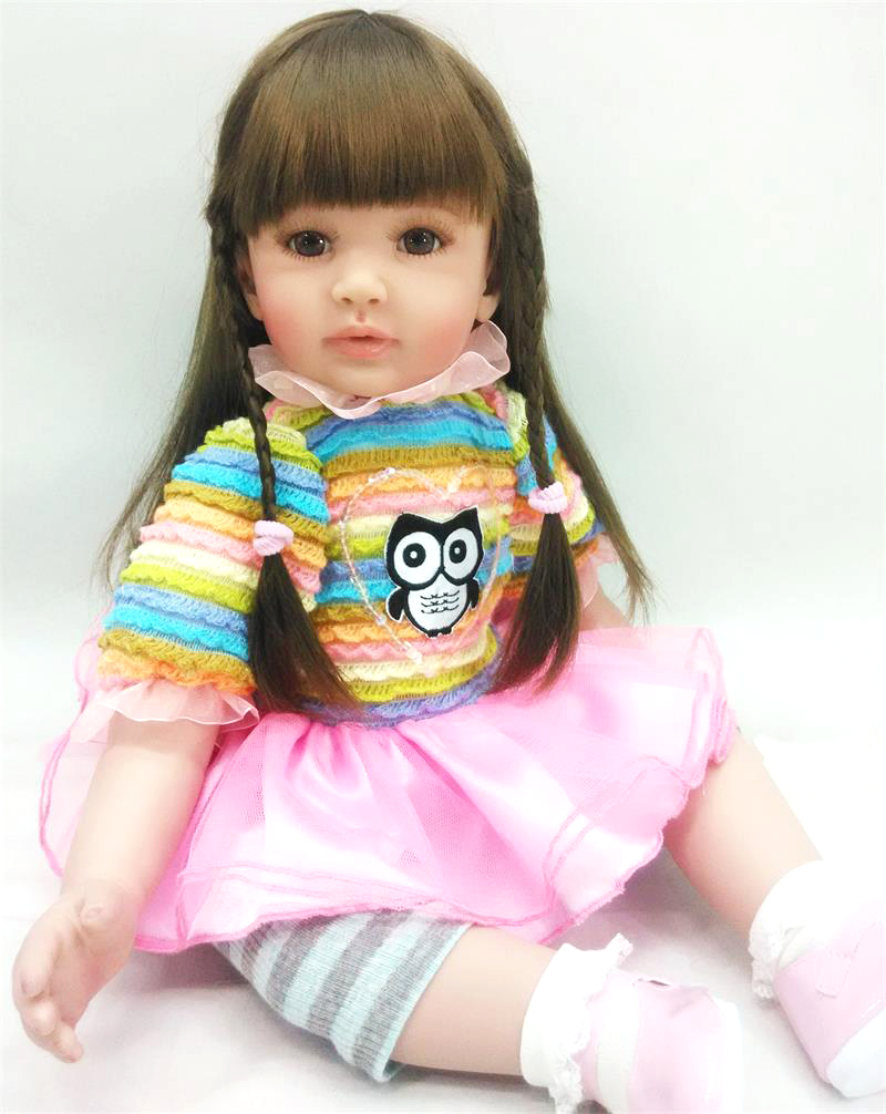 58cm Handmade Fake Baby Doll Soft Silicone 24inch Reborn Dolls Toddler Princess realistic bonecas adorable girl toy for kids 58cm Handmade Fake Baby Doll Soft Silicone 24inch Reborn Dolls Toddler Princess realistic bonecas adorable girl toy for kids