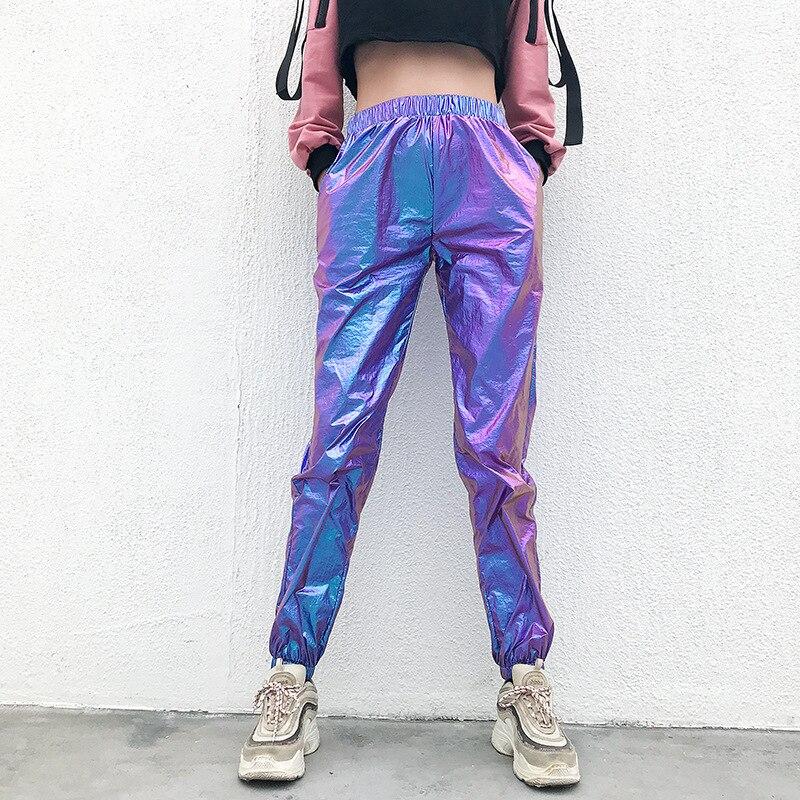 Women Rave Pants Pole Dance Shorts Holographic Bodysuit Neon Outfit Dance Crop Top Women Jazz Dance Street Dance Clothing