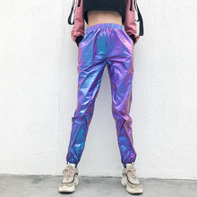 women rave pants pole dance shorts holographic bodysuit neon outfit crop top jazz street clothing