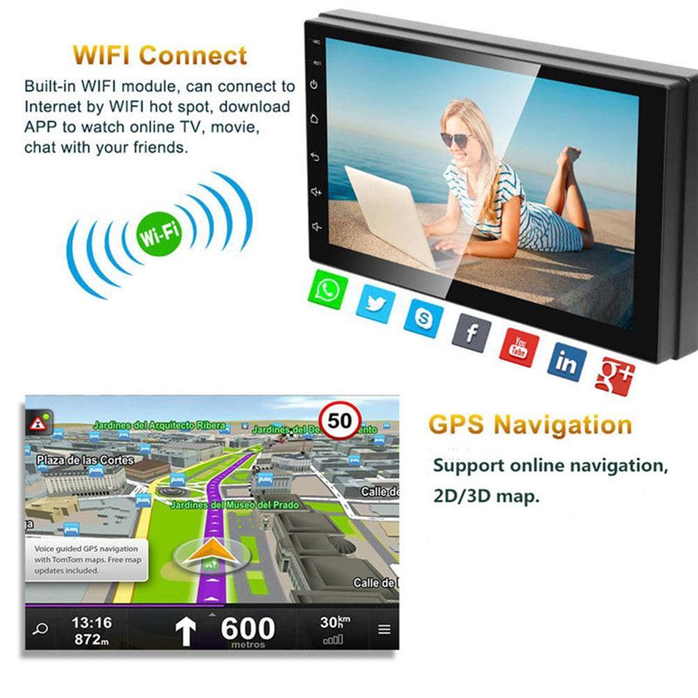 Car GPS Navigation Radio Player Bluetooth Full HD 1080P 7 Inch Wifi Music RAM 1GB SP99