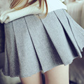 Baby Girls Lolita Pleated Skirt Preppy Style Cute Solid Cotton Skirts A-line Sailor Skirts for Spring Autumn