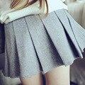 Bebé Niñas Faldas De Algodón Lolita Falda Plisada Estilo Preppy Lindo Sólido A-line Faldas Marinera para la Primavera Otoño