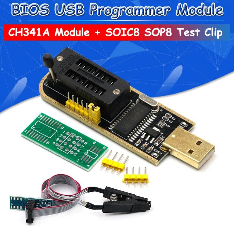 CH341A 24 25 Series EEPROM Flash BIOS USB Programmer Module + SOIC8 SOP8 Test Clip For EEPROM 93CXX / 25CXX / 24CXXCH341A 24 25 Series EEPROM Flash BIOS USB Programmer Module + SOIC8 SOP8 Test Clip For EEPROM 93CXX / 25CXX / 24CXX